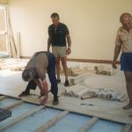 1993 Travaux parquet salle du bar