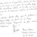 1995 Extrait livre d'or 1er Open Maurice DAVESNE