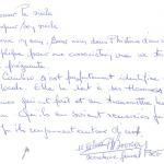 2000 Extrait livre d'or 100eme Anniversaire JP BOURDIN